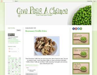 pleasegivepeasachance.blogspot.com screenshot