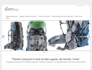 plecaki-turystyczne.explore.com.pl screenshot