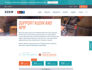 pledge.kuow.org screenshot