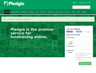 pledgie.com screenshot