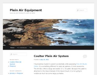 pleinairequipment.com screenshot