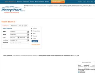 plentyofcars.com.au screenshot
