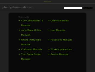 plentyofmanuals.com screenshot