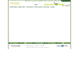 pleo-web.de screenshot