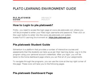 pleplatoweb.net screenshot