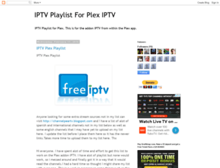 plexiptvplaylist.blogspot.co.at screenshot