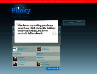 plinky.com screenshot