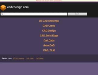 plm.cad2design.com screenshot
