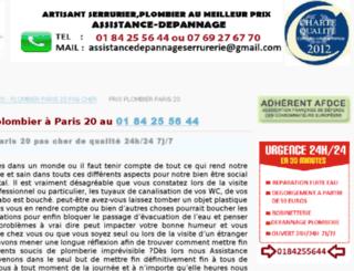 plombierparis20.sitew.fr screenshot