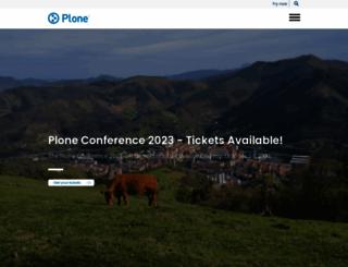 plone.org screenshot