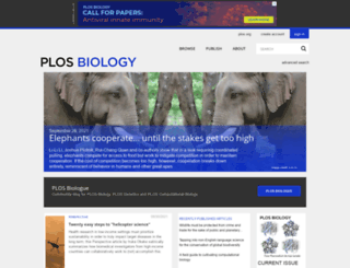 plosbiology.org screenshot