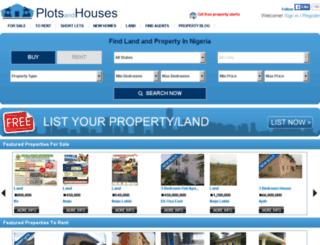 plotsandhouses.com screenshot