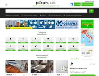 plotterusati.it screenshot
