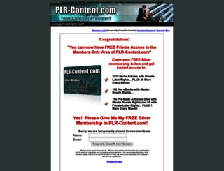 plr-content.com screenshot