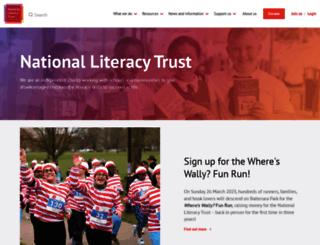 plrs.literacytrust.org.uk screenshot