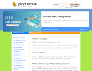 plsql-tutorial.com screenshot