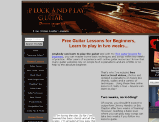 pluckandplayguitar.com screenshot