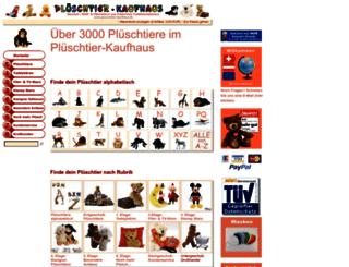 plueschtier-kaufhaus.de screenshot
