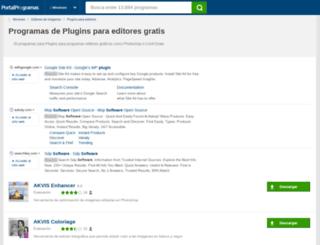 plugins-editores.portalprogramas.com screenshot