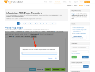 plugins.b2evolution.net screenshot