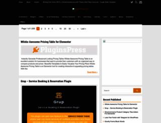 pluginspress.com screenshot