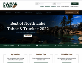 plumasbank.com screenshot