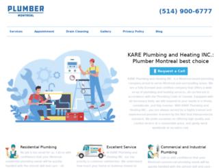 plumbermontreal.org screenshot