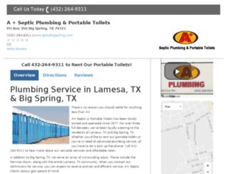 plumbingcompanybigspring.com screenshot