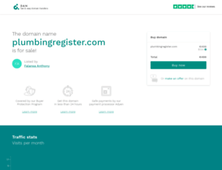 plumbingregister.com screenshot