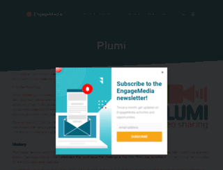 plumi.org screenshot