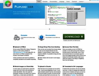 plupload.com screenshot