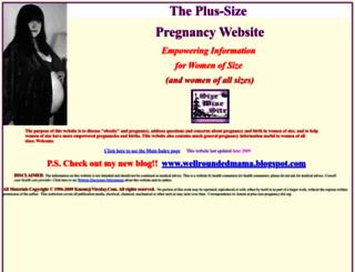 plus-size-pregnancy.org screenshot