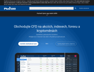 plus500.cz screenshot