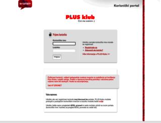 plusklub.hteronet.ba screenshot