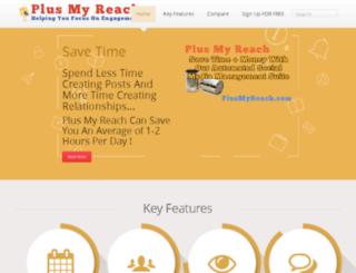 plusmyreach.com screenshot