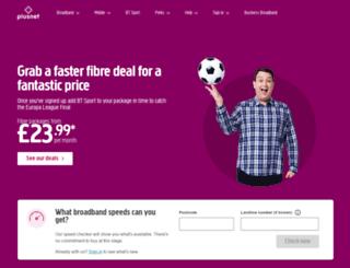 plusnet.com screenshot