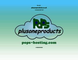 plusoneproducts.co.uk screenshot