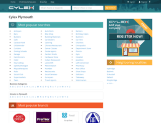 plymouth.cylex-uk.co.uk screenshot