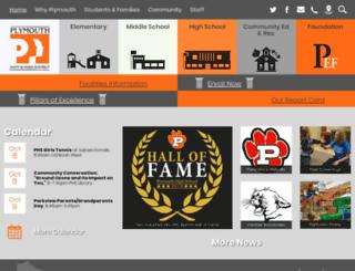 plymouth.k12.wi.us screenshot
