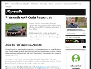 plymouthaarcuda.com screenshot