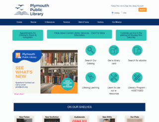 plymouthpubliclibrary.org screenshot