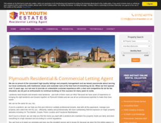 plymouthresidentiallettingagent.co.uk screenshot