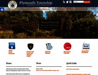 plymouthtownship.org screenshot