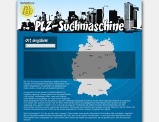 plz-suchmaschine.de screenshot