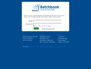 pma.batchbook.com screenshot