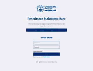 pmb.maranatha.edu screenshot