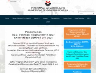 pmb.upi.edu screenshot
