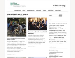 pmbablog.tulane.edu screenshot