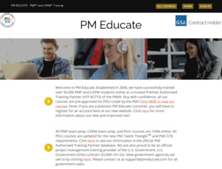 pmeducate.com screenshot