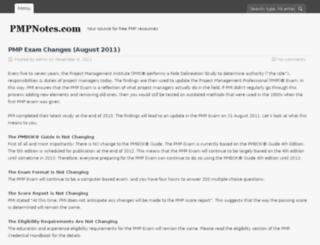 pmpnotes.com screenshot